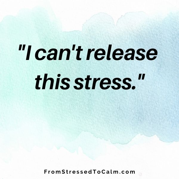 sign that says I Can't Release This Stress