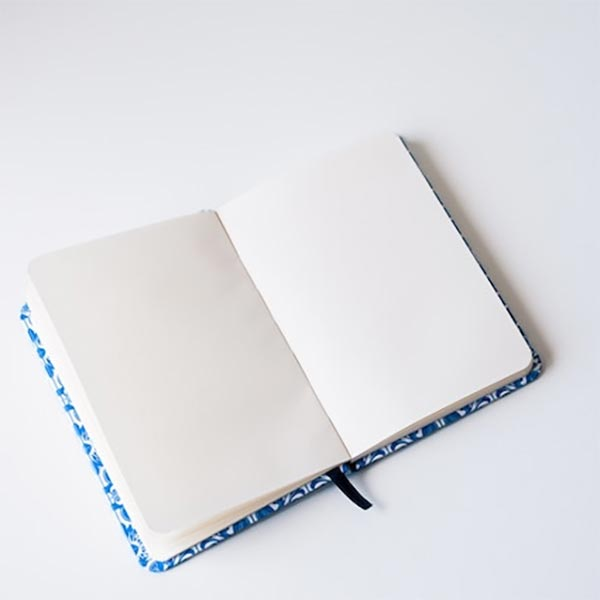 image of an empty, open journal