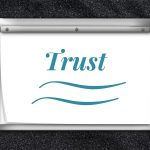 image of flipchart with the word Trust